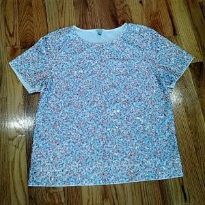 J.Crew sequin t-shirt